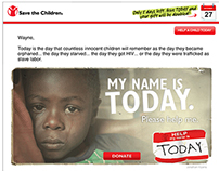 save the children – 2013 year end campaign