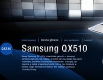 Samsung QX510 site & campaign