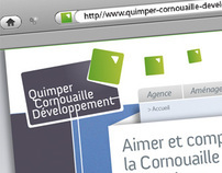 Quimper Cornouaille Developpement Web site