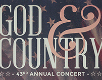 Print // God & Country Poster
