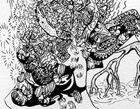 Transitioning - Pen & Ink