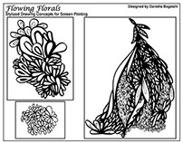 Flowing Florals: Screen Print Collection