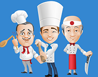 FREE Vector Chef Characters