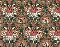 Wallpaper pattern design 23 Edouard Artus ©2014