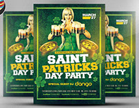 St. Patricks's Day Party Flyer Template