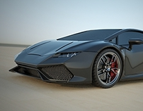 Lamborghini Huracan restyled rendering project