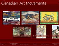 Canadian Art Movements - Flash Website