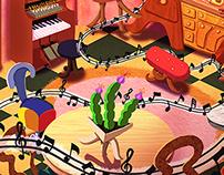 Castelo Rá Tim Bum - Sala de Música