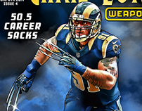 Comic Book Covers of Pro Athletes