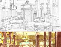 Sketch Café Tortoni