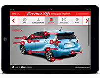 Toyota/Scion Service Guide Application UI Comps