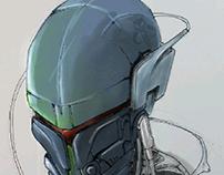 unnamed mecha helmet