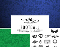 Football backgrounds, patterns & icons