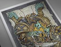 Warhammer 40K. Plague Marine.