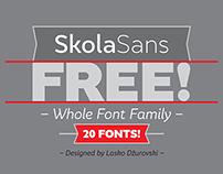 Free font family: SkolaSans