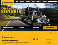 Proposed Homepage Design for Hunter Tires