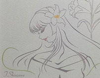 「FANTASTIC FLOWER ART EXHIBITION in AAA展」出展作品 百合