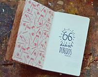 """Proyecto """"66 días de dibujos"""" (un libro para dibujar)"""