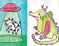 Weekly sketchbooks