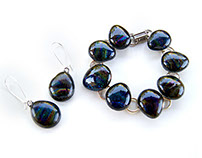 Iridescent glass jewelry