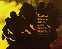 Bradford School of Arts and Media Summer Show poster