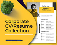 Corporate, Minimalist CV/Resume Collection