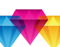 The crystal effect logo