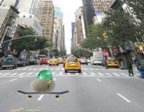 Skateboarding Rock