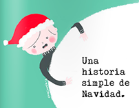 E-book Illustrations- Una historia simple de Navidad.