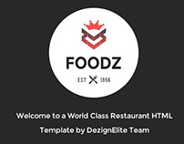 Foodz Restaurant Theme