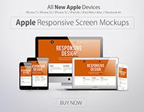 Apple Responsive Screen Mockups