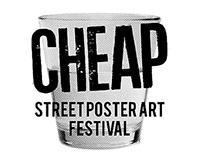 POSTER. Cheap street poster art festival