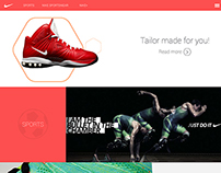Nike concept website(ALL DUE RESPECT TO NIKE BRAND)