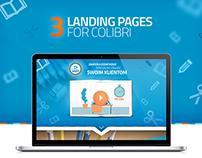 Colibri - Landing page's