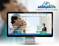 Adamjee Insurance website design