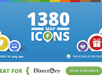 115 Unique Maps Icons for Directory WP Theme