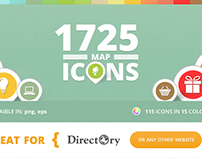 115 Light Maps Icons for Directory WP Theme