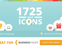 115 Unique Maps Icons for Business Finder WP Theme