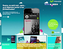 Movistar - Spotify Singing Banner