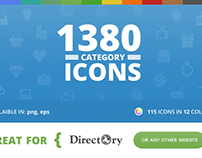 115 Unique Category Icons for Directory WP Theme