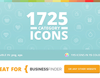 115 Category Icons - Business Finder Theme
