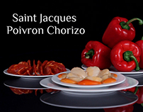 St Jacques Poivrons et Chorizo