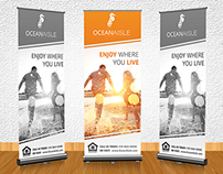 Banner stand design for Ocean Aisle