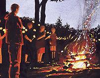 Camp Cheerio 40th Anniversary Illustration