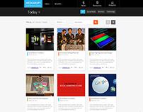 News Site Mockup