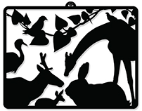 Home deco silhouettes wall hanging picture