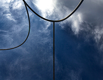 Curved lines of Barcelona's sculptures