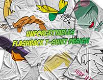 Unforgettables - Flashback T-Shirt Design