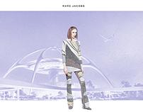 """Concept: """"Retro-Future Travel"""" West Coast Ad Campaign"""