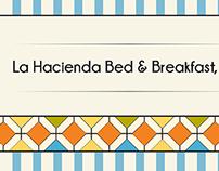 La Hacienda Bed & Breakfast business card design